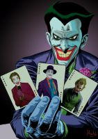 Joker Batman the animated series with cards by Shinnh
