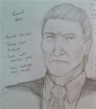 Ewald Anzo (character design thing) by Baneofsugar
