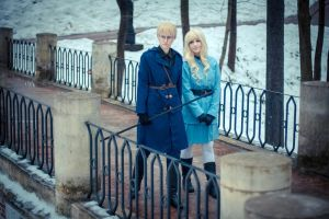 SuFin (APH) cosplay by CrystalArwen