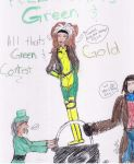 Al Thats Green and Gold Contes by X-Men-Mania