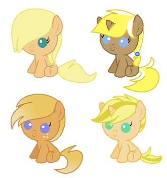 ApplejackXTrenderhoof Shipping Adopts [CLOSED] by Pwn3-adopts