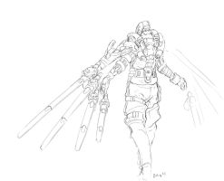 Daily Drawing 00001 Test pilot by onestepart