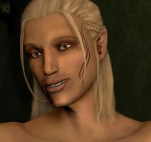 Portrait of Zevran by Calikatdavis