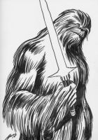 WOOKIE WITH A LIGHTSABER by Ragnaroker