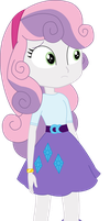 Equestria Girls Sweetie Belle (Rarity's clothes) by JustinKWork