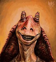 Jar Jar Binks by abzac666