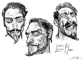 Portraits of Luciano Rosso by kvernikovskiy