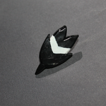 Pokemon - Fletchling feather accessory pin - black by SuperSiriusXIII