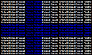Finland name flag by ABtheButterfly