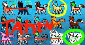 CHEAP 5 POINT ADOPTS #1 by Foxxyheartz