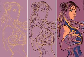 chun li fan art by rogercruz