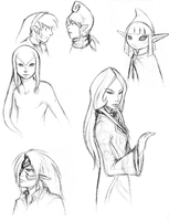 Zelda sketches - spoilers by Chosen-of-Xenodrupe