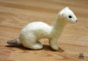Hand made: white ermine (FOR SALE) by MalinaToys