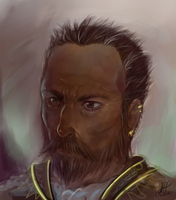 Grizzled War-Merchant by Illumikage