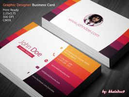 Graphic Designer Business Card by khaledzz9