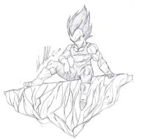 Vegeta by trigun-knives009