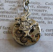 Alice's March hare steampunk necklace by GraceCM