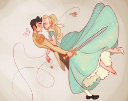 Cinderella and her Prince by MeoMai