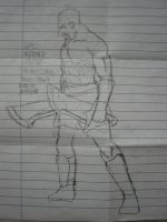DAMN UGLY SKETCHY KRATOS by SkyWhiteFox