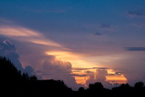 Clouds and sunset by erebus56