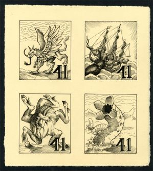 Mythological monster Stamps
