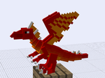 Fire Dragon Minecraft Techne Model by Zed-Harmonia