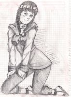 Hinata Shippuden Sketch by MarchingXpOWDER