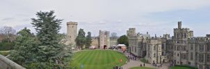 Warwick castle panorama no2 by maximusmountain