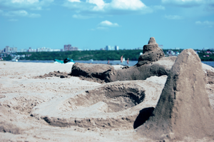 living in a sand castle by Mahico