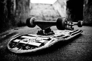 My skateboard by kudlatykocur