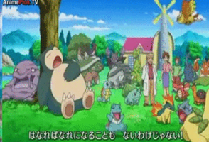 Ash's Pokemon at Oak's from Be an arrow opening by Fran48