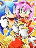 Sonic and Amy by riku-dou