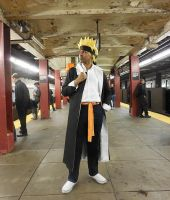 Gakuen Naruto On The New York Subway by R-Legend