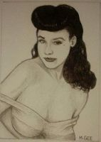 Dita Von Teese - Sketch ACEO by mikegee777
