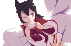 Ahri by Phibonnachee