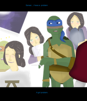 TMNT:girl problem by Unknownsushi