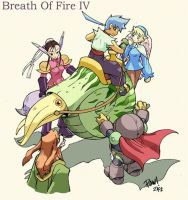 breath of fire 4 fan art by froggiechan
