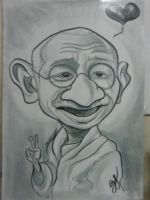 Ghandi Caricature by Fyra