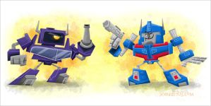 Shockwave Vs Ultra Magnus by xanderthurteen