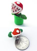 Piranha Plant Miniature by Bon-AppetEats