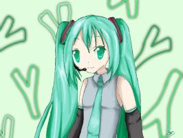 Art Trade: Miku Hatsune by Isthisnameinuse