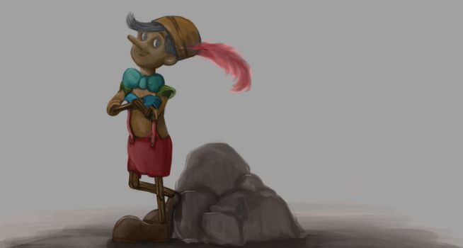 W.I.P Pinocchio by robertrenoir