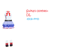 MMD: Suika's clothes+ DL by Chibi-Baka-San