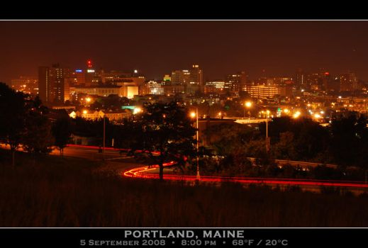 Portland Skyline by PhotographyByIsh