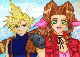 Cloud x Aerith: I can't forget her smile... by dagga19