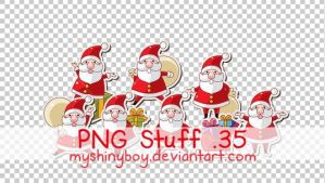 PNG Stuff 35 -Christmas Santas by MyShinyBoy