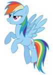 Rainbow Dash Vector by Dipi11