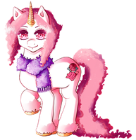 Pink Cotton Sparkle Horn by Shadowstar