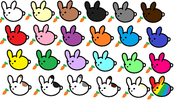 Bunnies, Bunnies Everywhere... by SillyLittlePuff