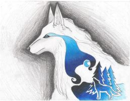 Wolf ROYGBIV: Blue and Indigo by horselover24-7